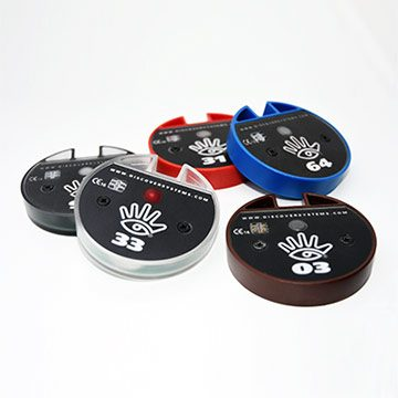 silent ordering system in colors brown white black red blue